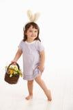 Niña en el traje de Pascua Imagen de archivo libre de regalías