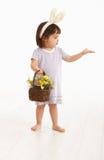 Niña en el traje de Pascua Imágenes de archivo libres de regalías