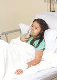 Niña en hospital Foto de archivo libre de regalías