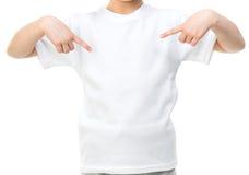 Niña en la camiseta blanca Fotografía de archivo libre de regalías