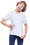 Niña en la camiseta blanca Imagen de archivo libre de regalías