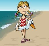 Niña en la playa Imagen de archivo