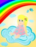 Niña en las nubes libre illustration