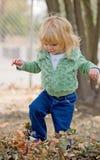 Niña en otoño Foto de archivo libre de regalías