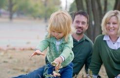 Niña en otoño Fotografía de archivo