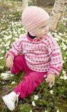 Niña en primavera Imagen de archivo libre de regalías