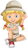 Niña en uniforme del explorador libre illustration