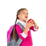 Niña en uniforme escolar foto de archivo libre de regalías