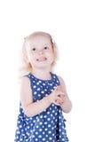 Niña feliz 3 años de la sonrisa Imagen de archivo