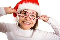 Niña festiva que sonríe en la cámara Imagen de archivo