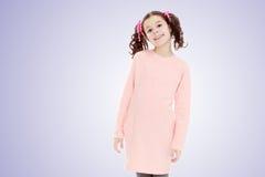 Niña hermosa en un vestido rosado Fotografía de archivo