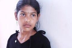 Niña india deprimida Imagen de archivo libre de regalías