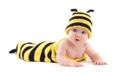 Niña linda en traje de la abeja Imagen de archivo libre de regalías