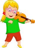 Niña linda que toca el violín libre illustration