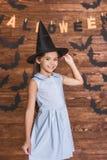 Niña lista para Halloween Fotografía de archivo libre de regalías