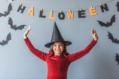 Niña lista para Halloween Foto de archivo