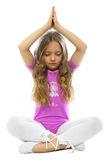 Niña meditating foto de archivo libre de regalías