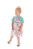 Niña pequeña en vestido del verano Fotos de archivo