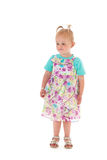 Niña pequeña en vestido del verano Imagenes de archivo