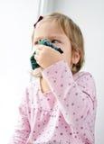 Niña pequeña enferma Imagen de archivo