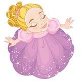 Niña pequeña linda que mira para arriba libre illustration