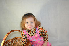 Niña rubia con Foto de archivo libre de regalías