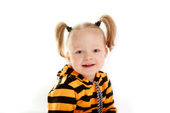 Niña sonriente hermosa Foto de archivo