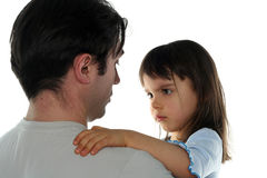Niña y su padre Fotos de archivo