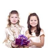 Niñas sonrientes Imagen de archivo libre de regalías