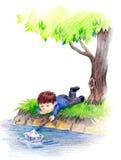 Niñez stock de ilustración