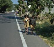 Niñez perdida en pobreza Foto de archivo libre de regalías