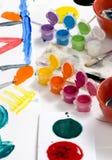 Niñez que pinta 010 Imagen de archivo