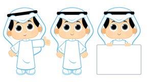 Niño árabe ilustración del vector