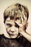 Niño aburrido Foto de archivo
