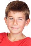 Niño adorable con el pelo rubio Imagen de archivo