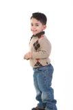 Niño adorable en la sonrisa del estudio Fotos de archivo libres de regalías
