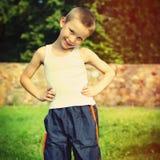 Niño al aire libre Foto de archivo libre de regalías