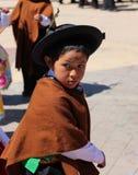 Niño andino Imagenes de archivo