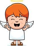 Niño Angel Excited stock de ilustración