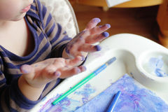 Niño, arte del gráfico del niño Fotos de archivo libres de regalías