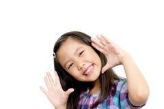 Niño asiático feliz Fotografía de archivo