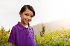 Niño asiático lindo Fotos de archivo