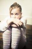 Niño asustado Fotografía de archivo libre de regalías