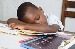 Niño cansado Imágenes de archivo libres de regalías