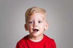Niño cantante Imagen de archivo libre de regalías