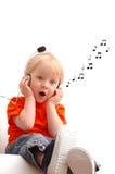 Niño cantante Foto de archivo
