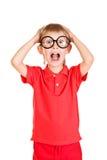 Niño chocado Imagen de archivo libre de regalías