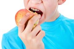 Niño con Apple Imagen de archivo