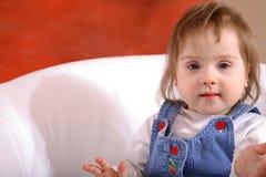 Niño con Down Syndrome Fotografía de archivo libre de regalías
