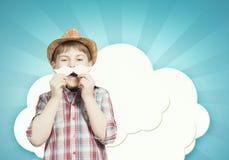 Niño con el bigote Imágenes de archivo libres de regalías
